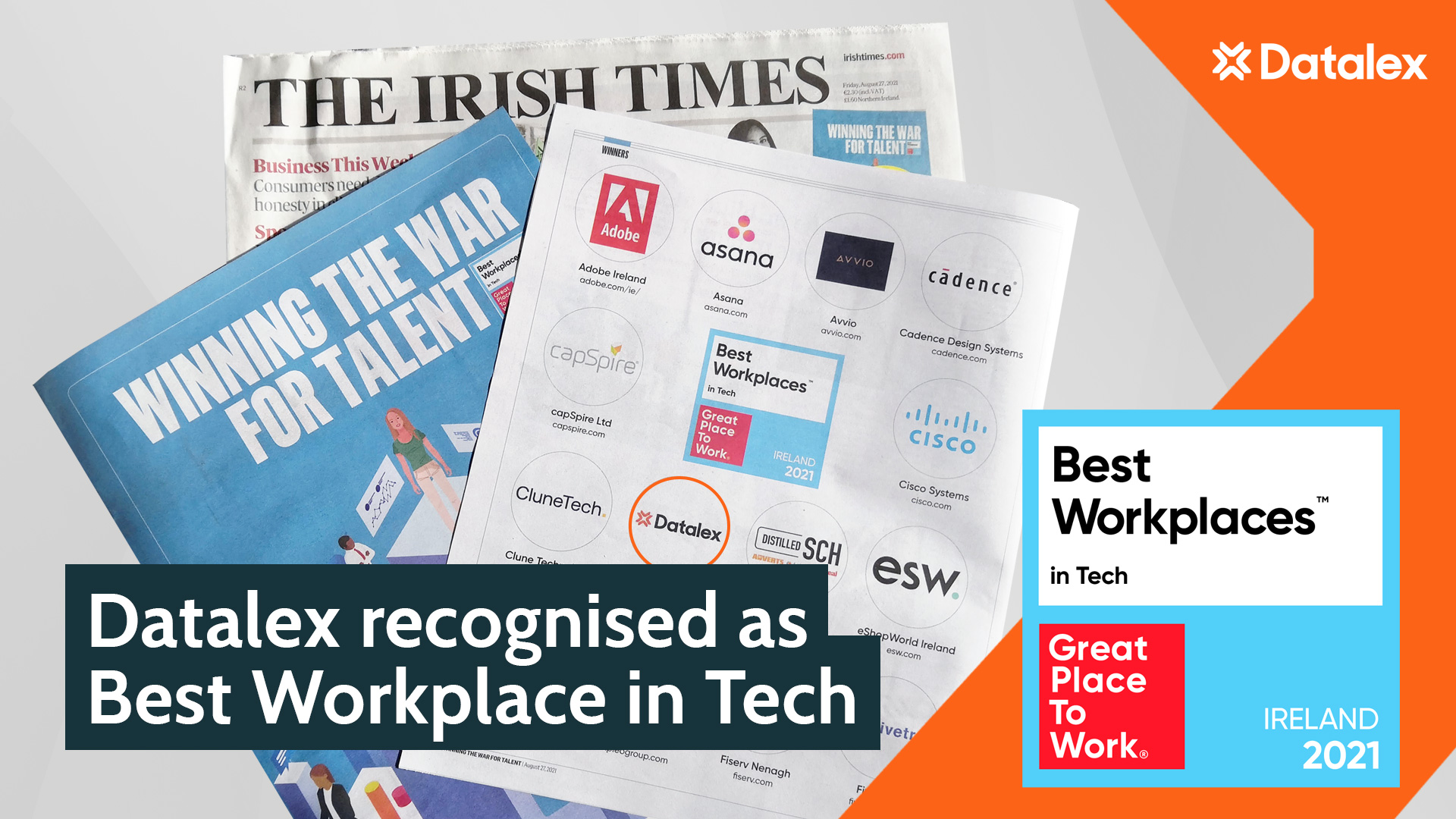 Datalex Recognised as Best Workplace in Tech